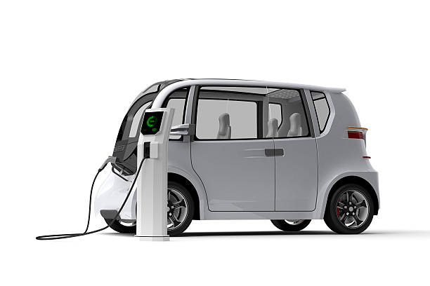 Electric Car 3D illustration of electric car. concept car stock pictures, royalty-free photos & images
