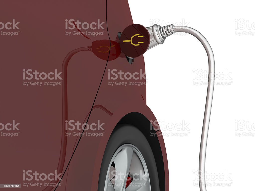 Electric car royalty-free stock photo