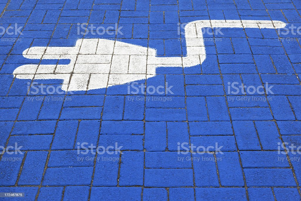 Electric car sign # 17 XXXL royalty-free stock photo
