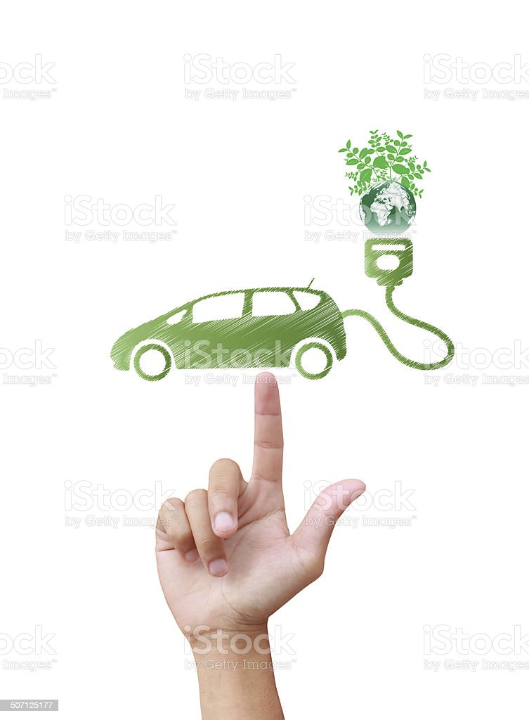 Electric car technology concept stock photo