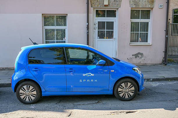 Electric car Volkswagen e-Up stock photo
