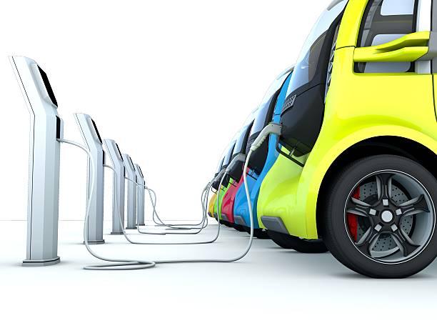 Le auto elettriche - foto stock