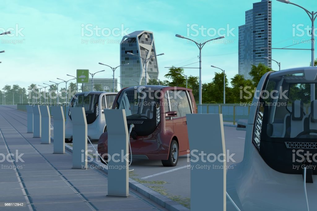 Electric Cars - Royalty-free Alternative Energy Stock Photo