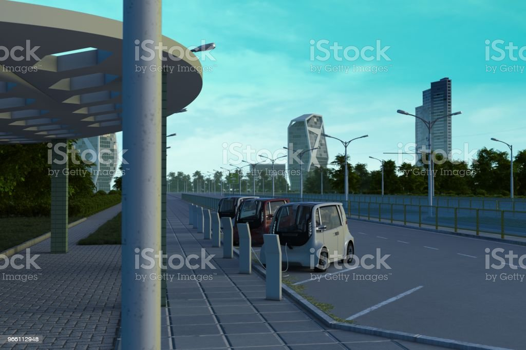 Electric Cars - Royalty-free Alternative Energy Stock Photo