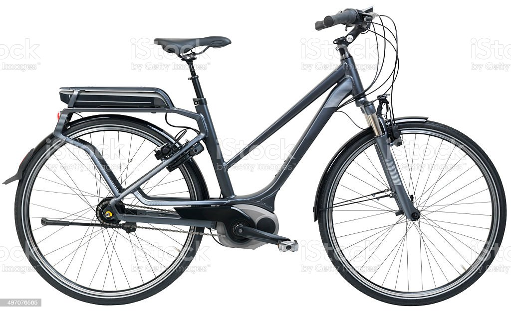 electric city bicycle - Ebike stock photo