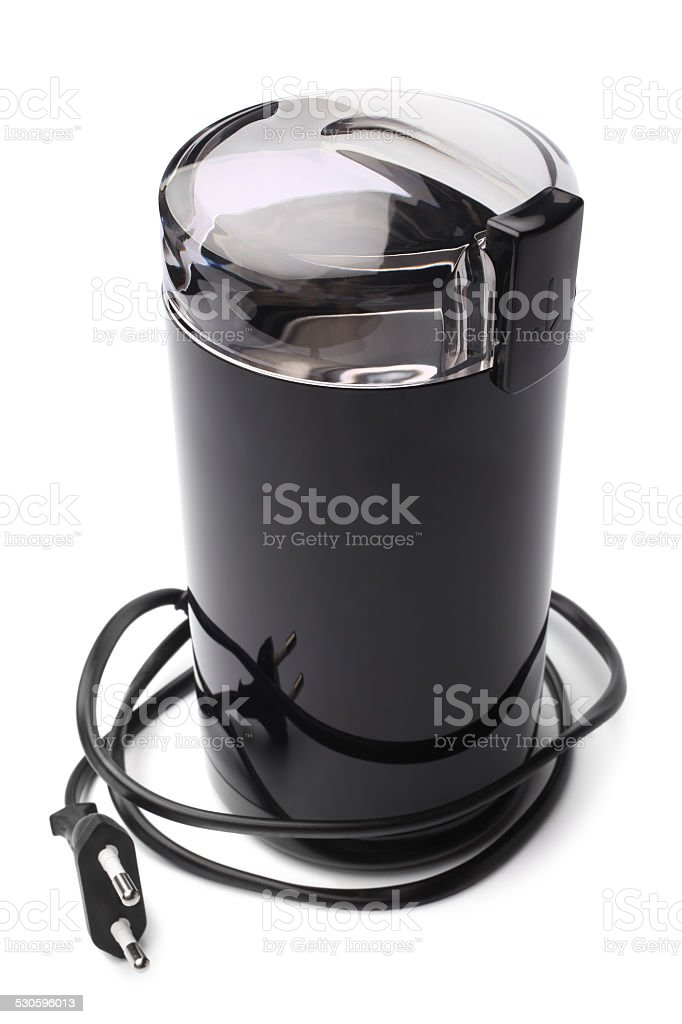 Electric coffee grinder stock photo