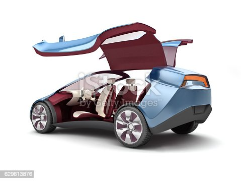 istock Electric concept car. 3d rendering 629613876