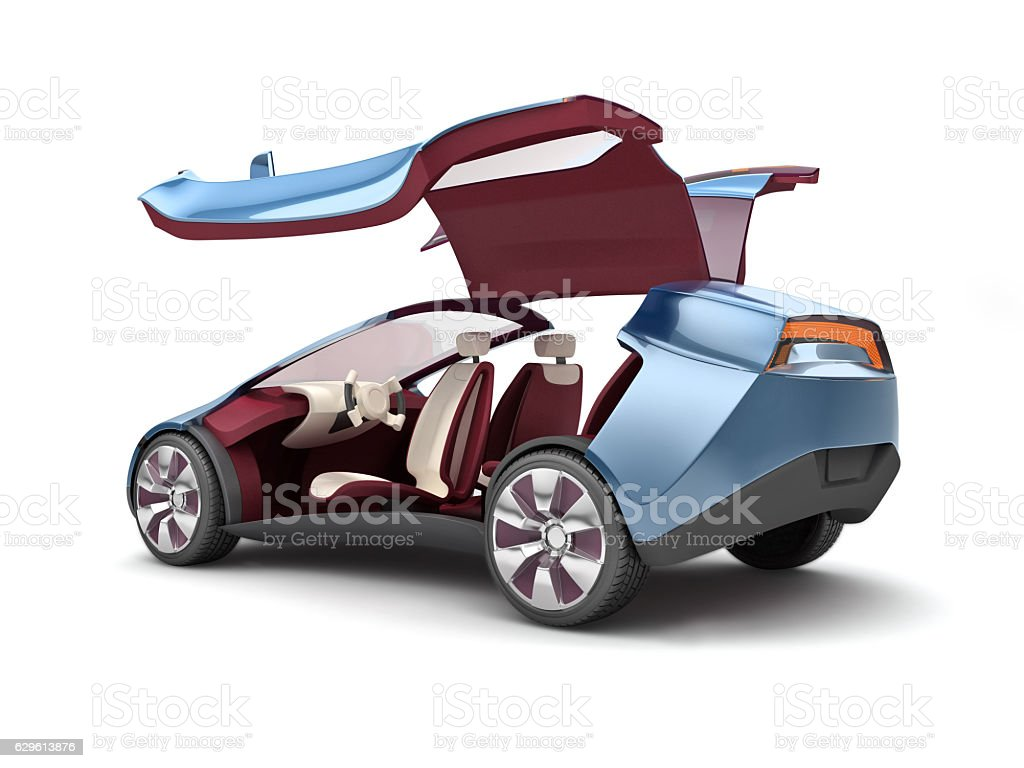 Electric concept car. 3d rendering - foto stock