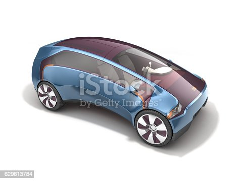 istock Electric concept car on solar battery. 3d rendering 629613784