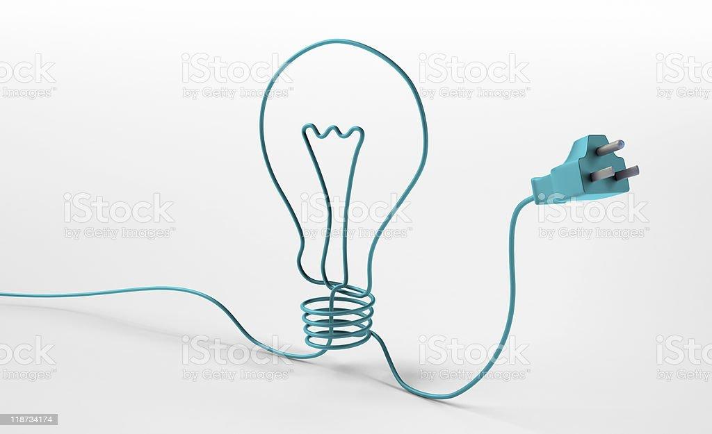 Electric Seil bilden eine Glühbirne symbol – Foto