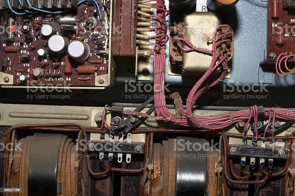 Electric details and wires royalty-free stock photo