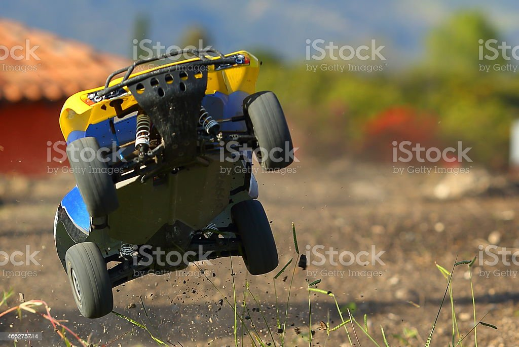 Electric Dirt Road Toy Car stock photo