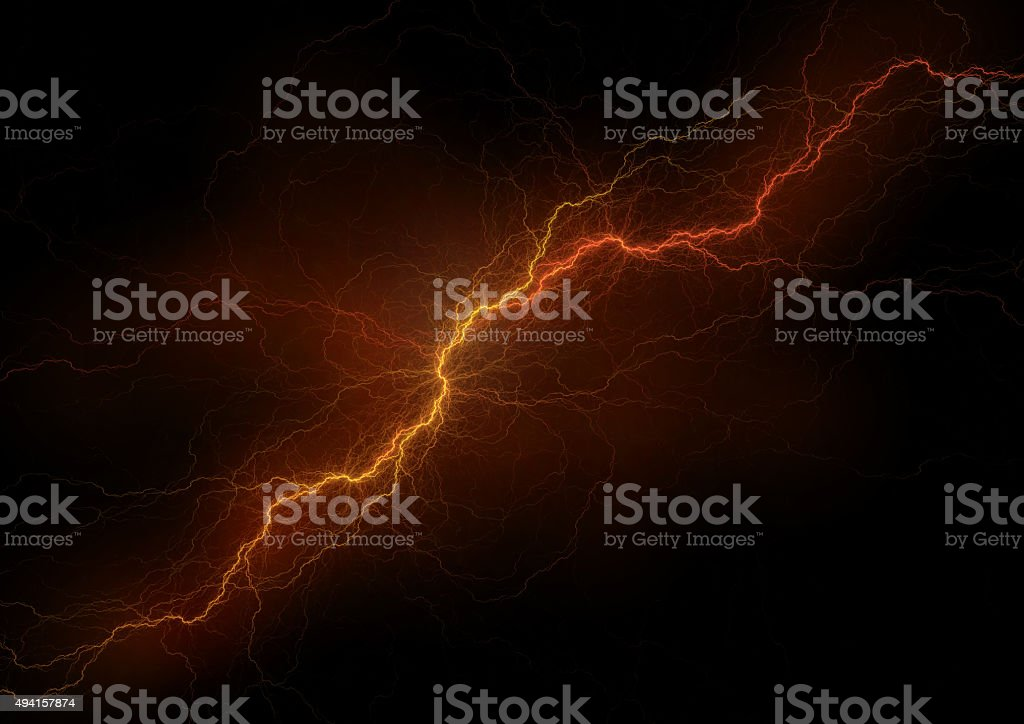 Electric discharge stock photo