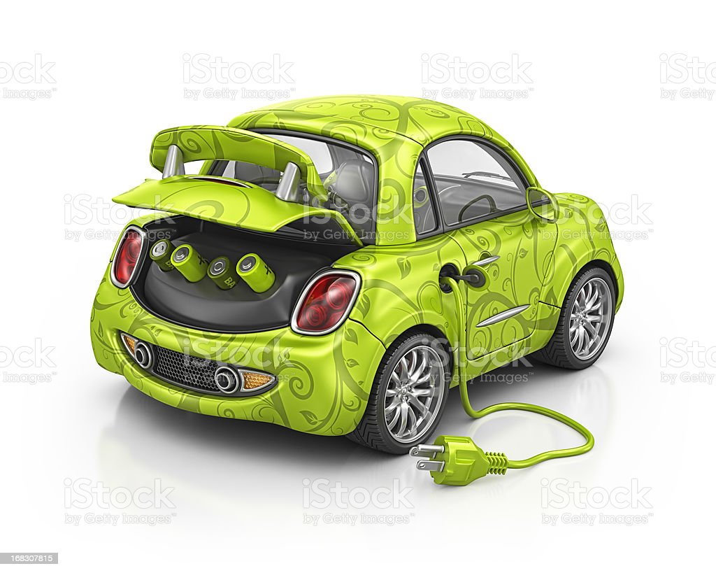 electric eco car royalty-free stock photo