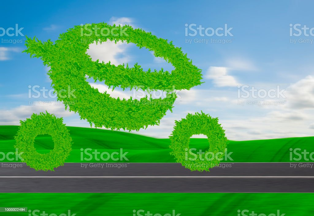 electric, eco-friendly car logo- car in the shape of the letter e