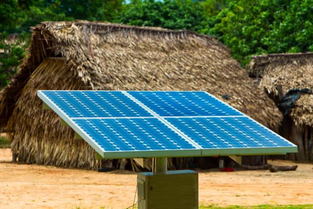 Elektrische Energie mit Solarzellen im ländlichen Raum – Foto