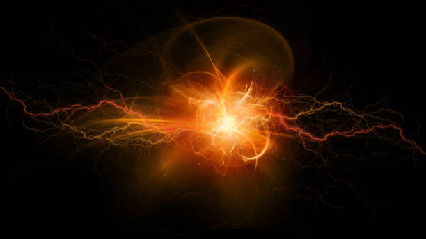 Electric explosion stock photo