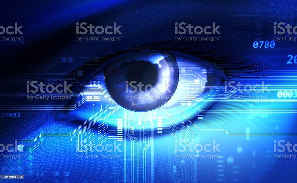 Electric Eye stock photo