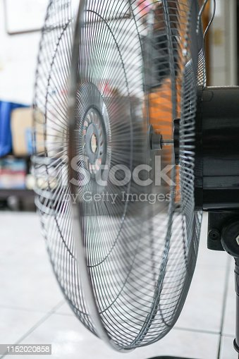 istock Electric fan at home. Made of metal. 1152020858