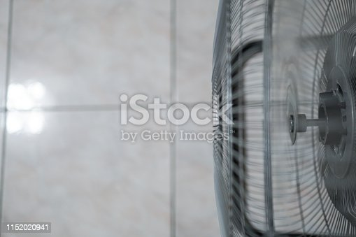 898247648 istock photo Electric fan at home. Made of metal. 1152020941