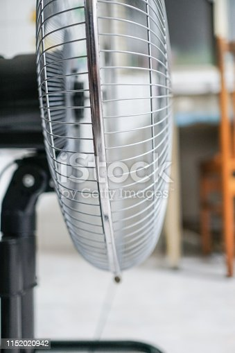istock Electric fan at home. Made of metal. 1152020942