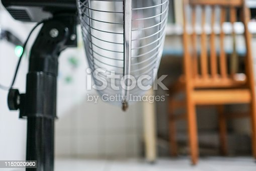istock Electric fan at home. Made of metal. 1152020960