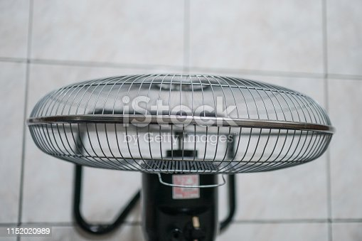 898247648 istock photo Electric fan at home. Made of metal. 1152020989