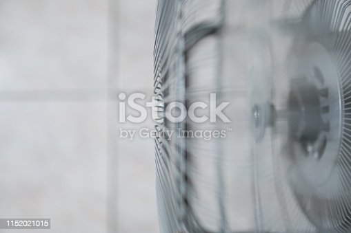 898247648 istock photo Electric fan at home. Made of metal. 1152021015