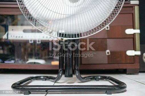 898247648 istock photo Electric fan at home. Made of metal. 1152021041