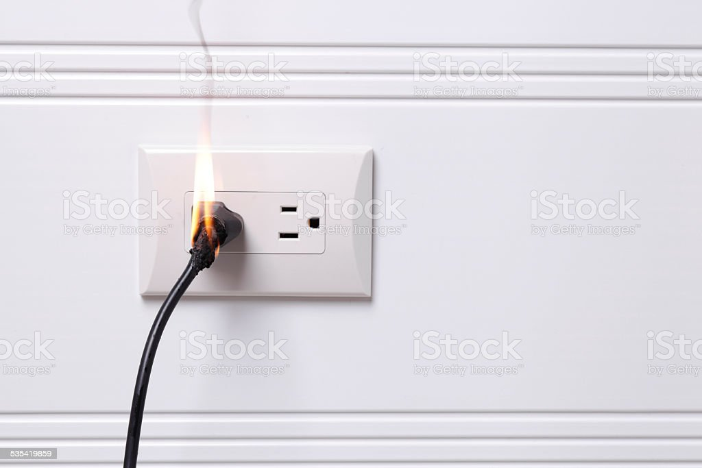 Electric Fire stock photo