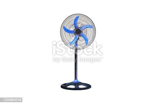 898247654 istock photo Electric floor fan isolated. 1203964245