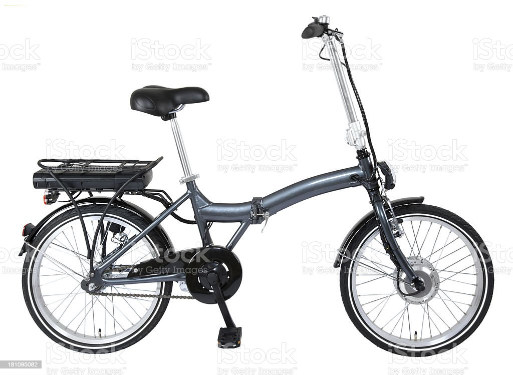 electric folding bicycle stock photo