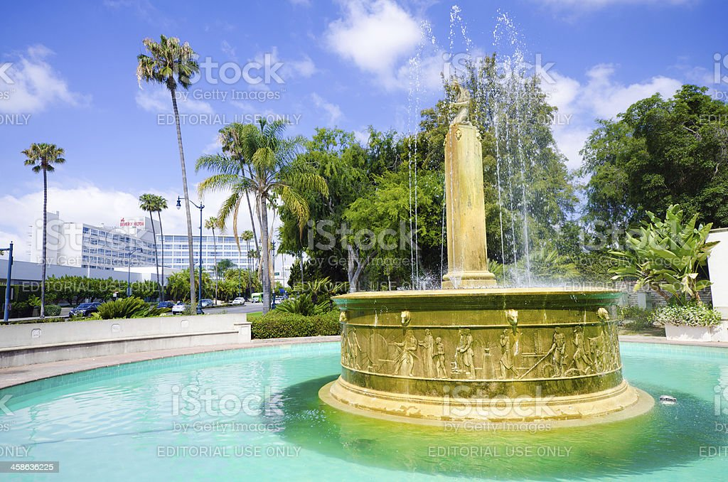 Electric Fountain in Beverly Hills, CA stock photo
