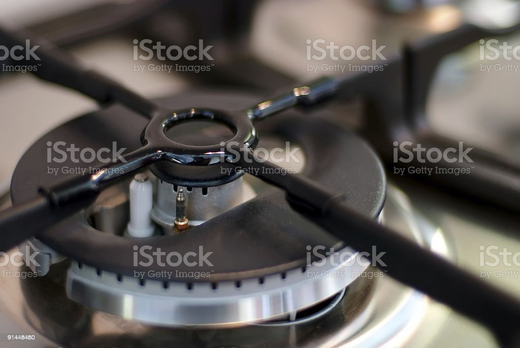 Electric gas cooker royalty-free stock photo