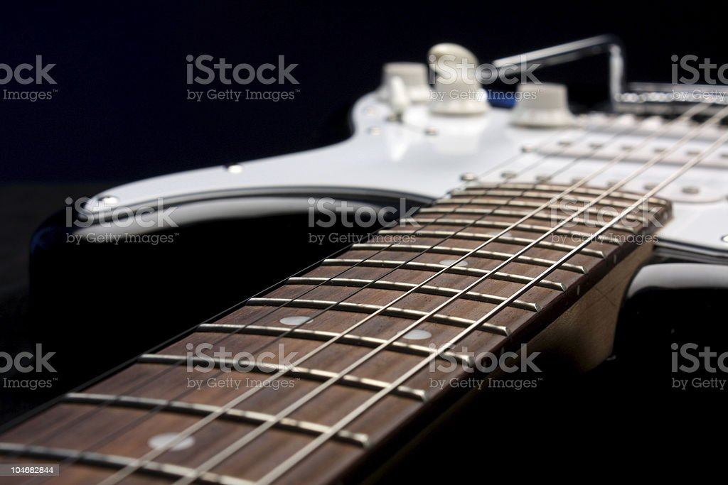 Electric guitar, beautiful string instrument stock photo