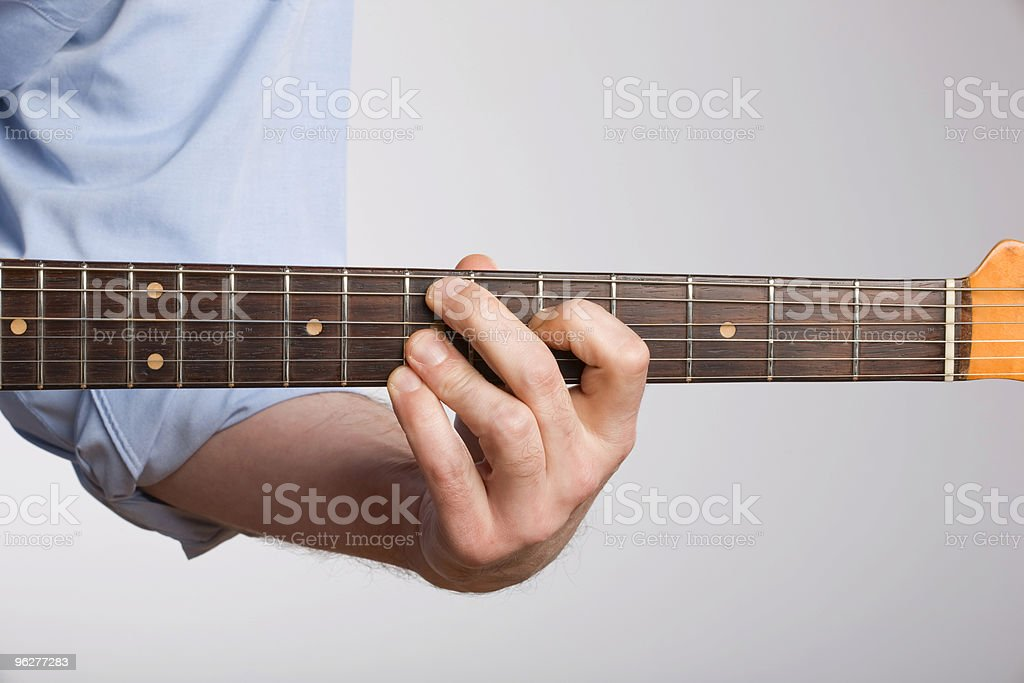 Electric guitar chord stock photo