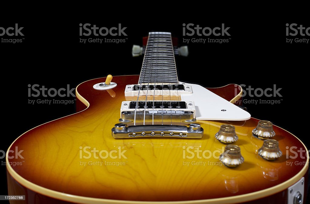 Electric Guitar Close Up 05 royalty-free stock photo