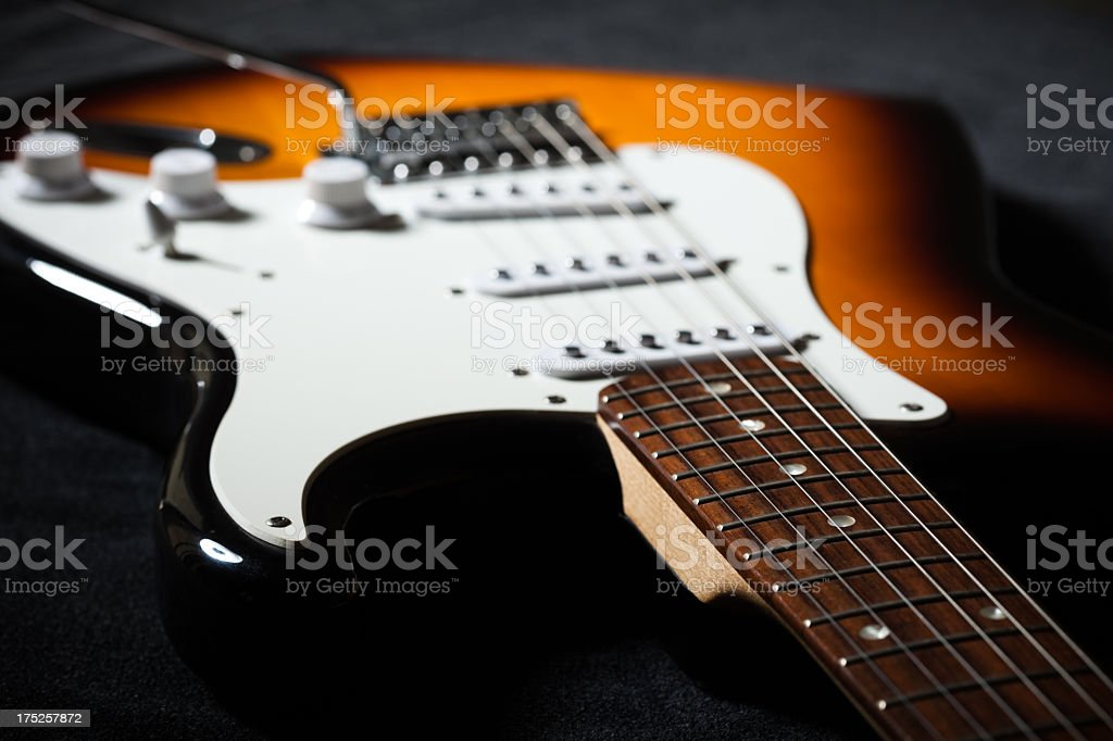 Electric guitar close-up royalty-free stock photo