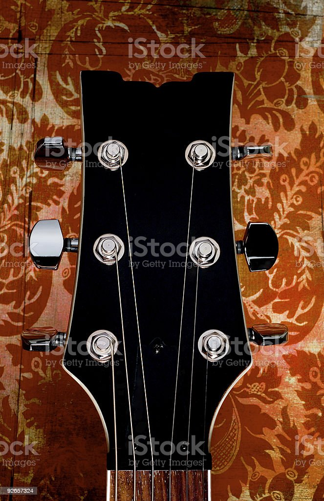 Electric guitar head royalty-free stock photo