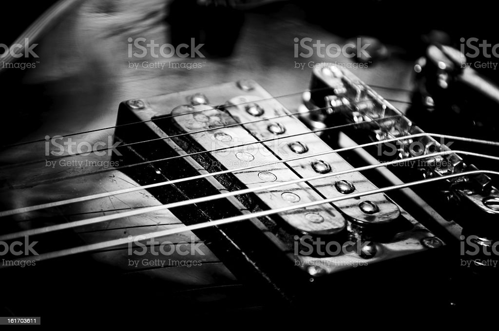 Electric guitar in b/w royalty-free stock photo