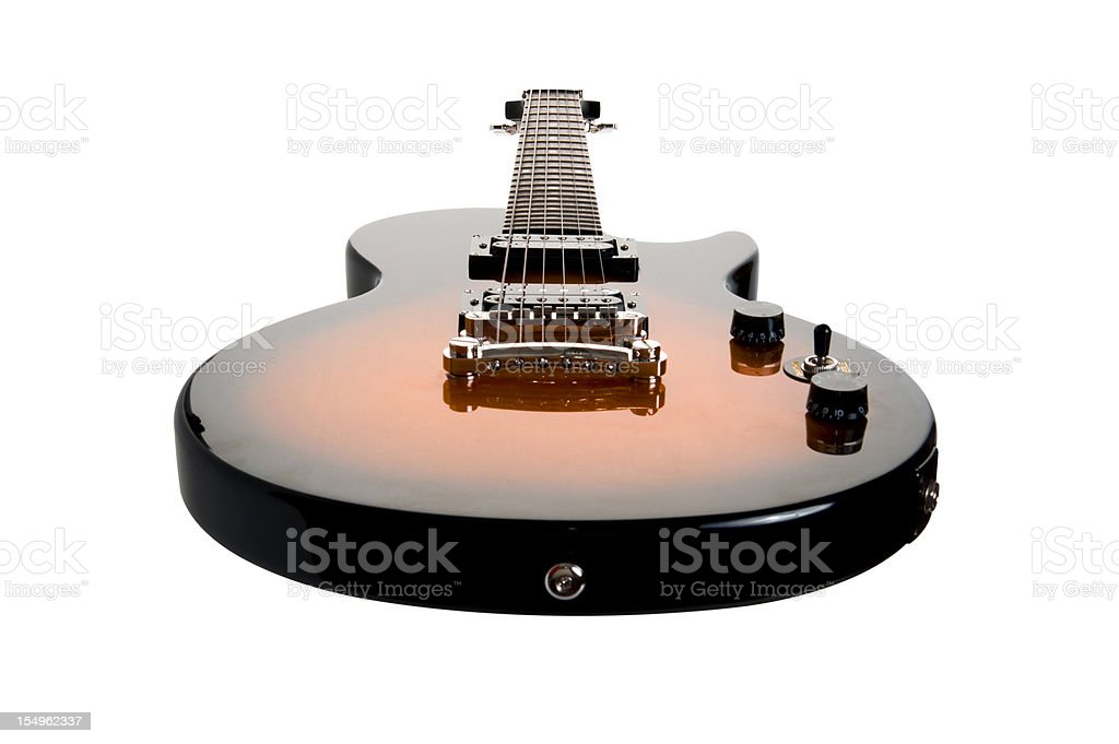Electric Guitar isolated with Clipping Path stock photo