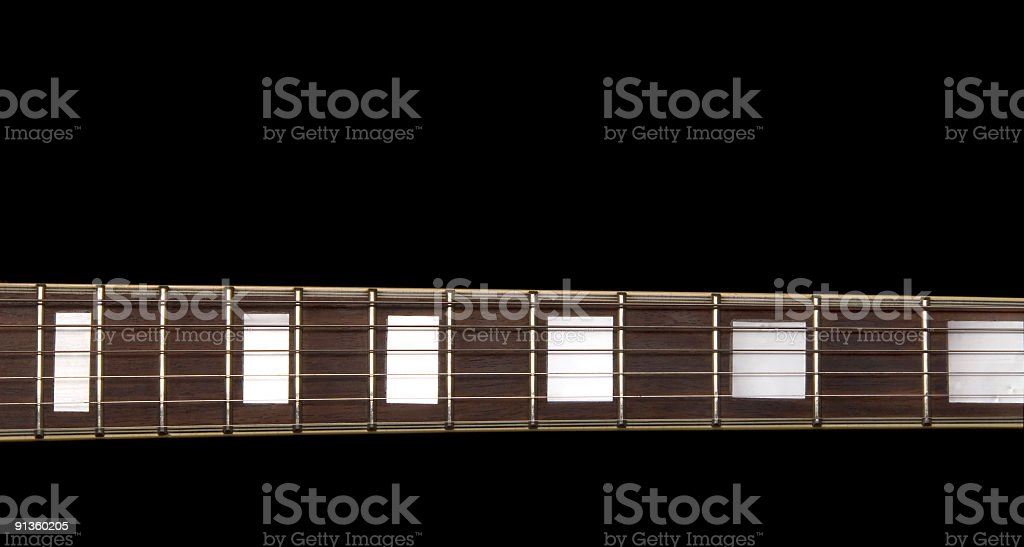 Electric Guitar Neck with Inlays royalty-free stock photo