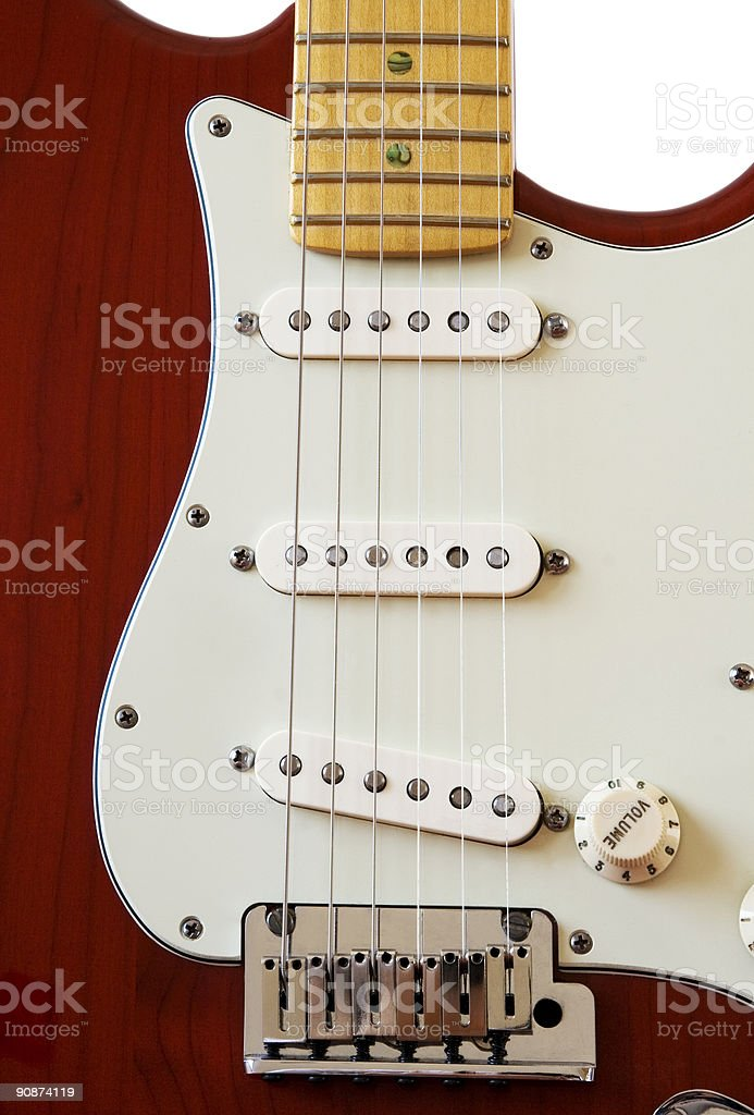 Electric guitar pick-up stock photo