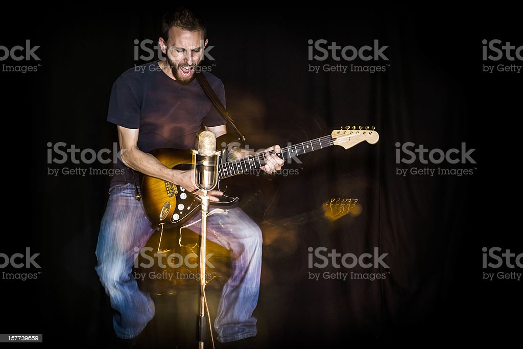 Electric Guitar(ist) stock photo