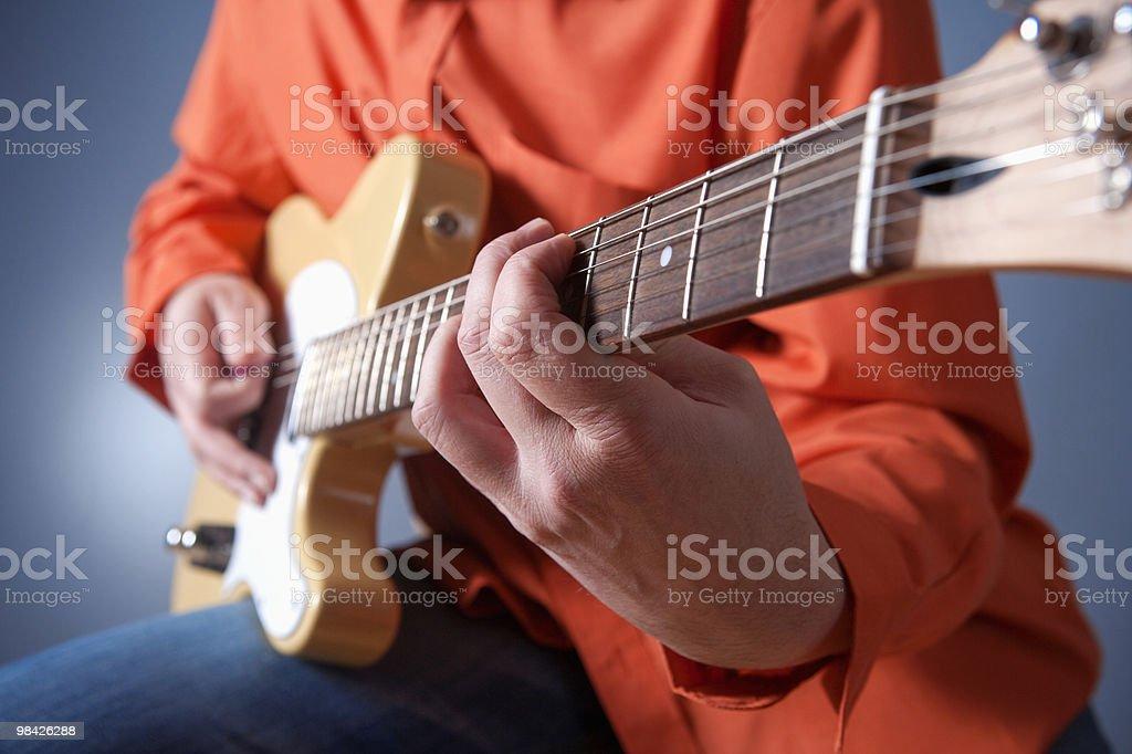 Chitarra elettrica foto stock royalty-free