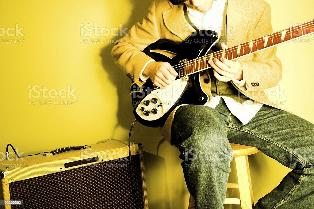 Elektrogitarre-Player Lizenzfreies stock-foto