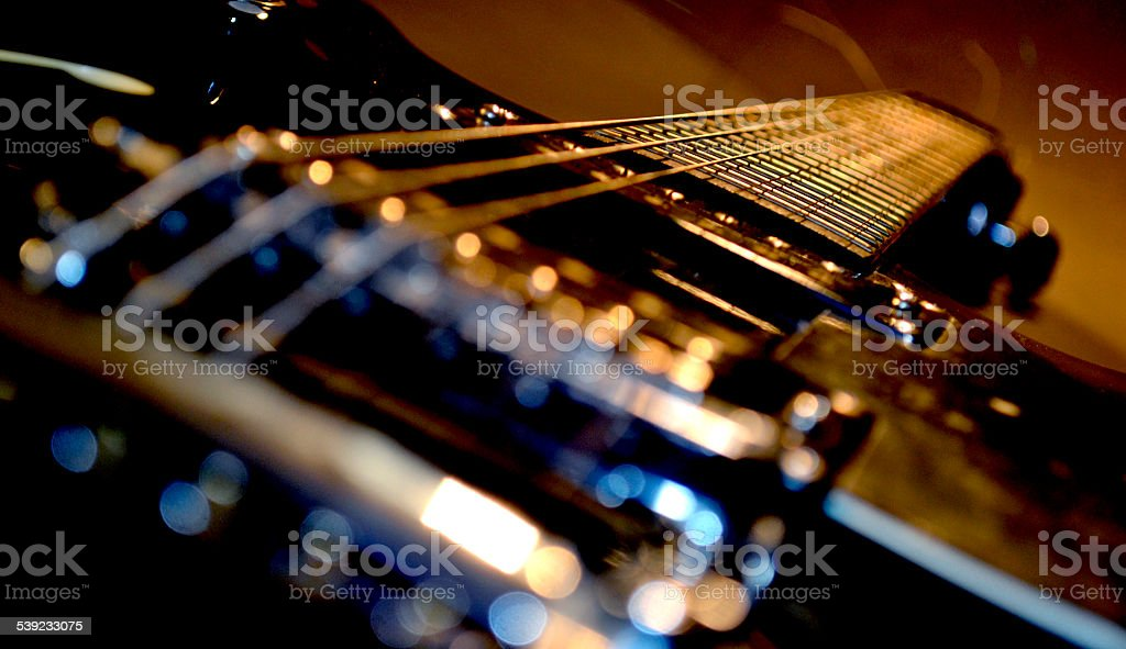 Electric guitar poo rock music royalty-free stock photo