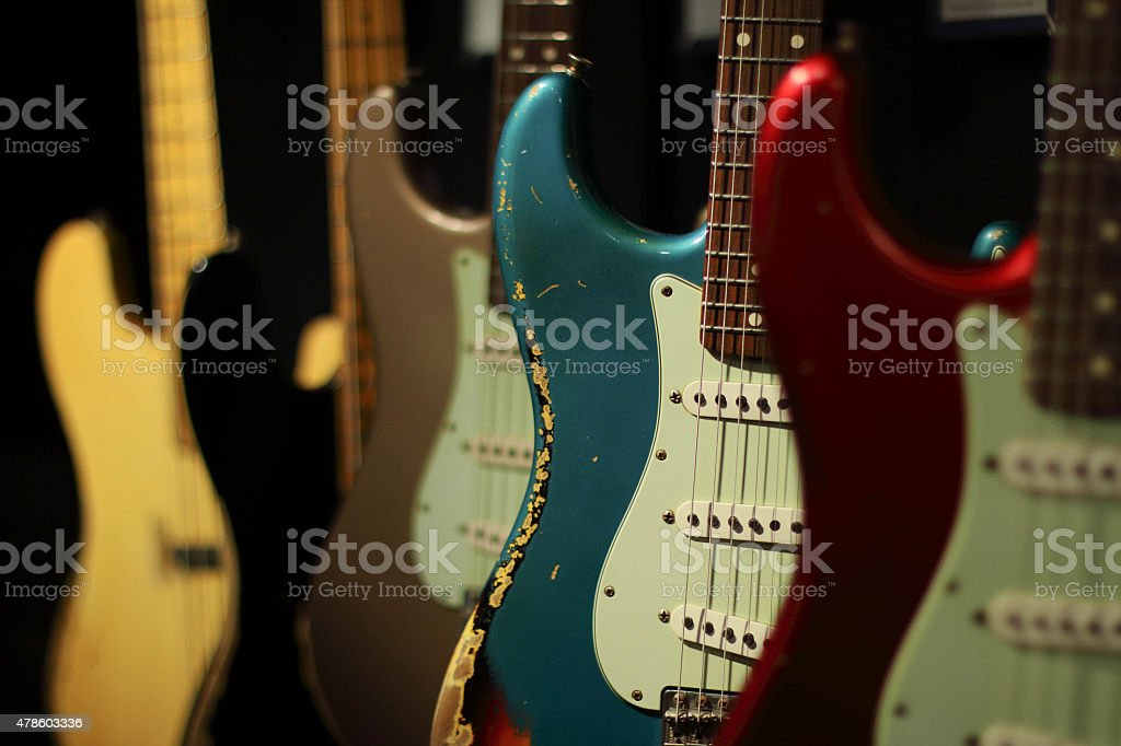 Electric Guitars stock photo