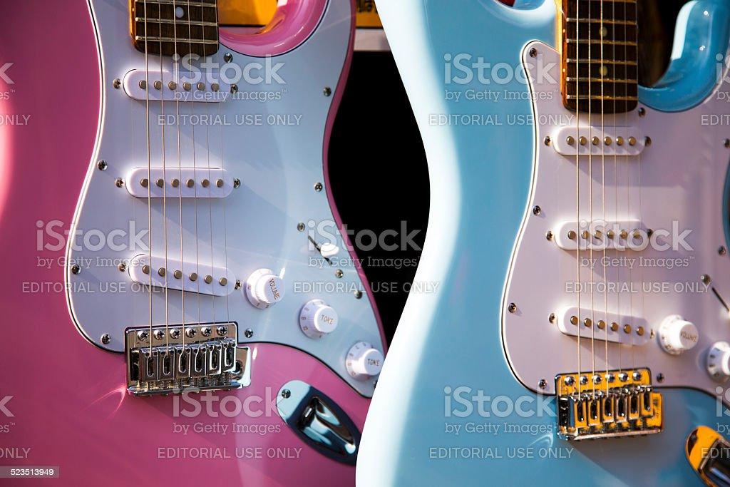 Electric Guitars stock photo