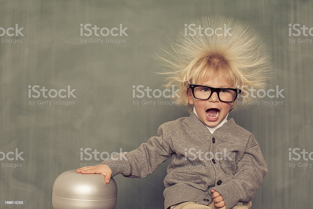 Electric Hair royalty-free stock photo